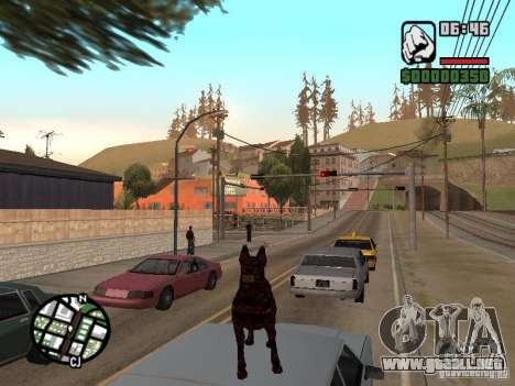 Cerberus de Resident Evil 2 para GTA San Andreas quinta pantalla