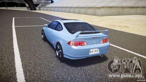Acura RSX TypeS v1.0 Volk TE37 para GTA 4 Vista posterior izquierda