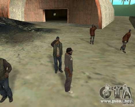 Barney sin hogar para GTA San Andreas sucesivamente de pantalla
