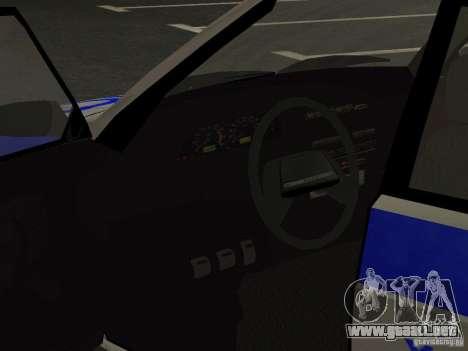 ВАЗ 2114 policía para vista lateral GTA San Andreas