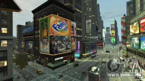 Real Time Square mod para GTA 4 quinta pantalla
