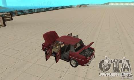 Dacia 1100 para visión interna GTA San Andreas
