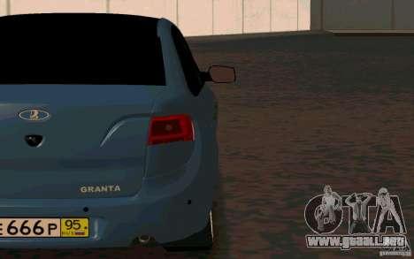 Lada Granta TUNING para la visión correcta GTA San Andreas