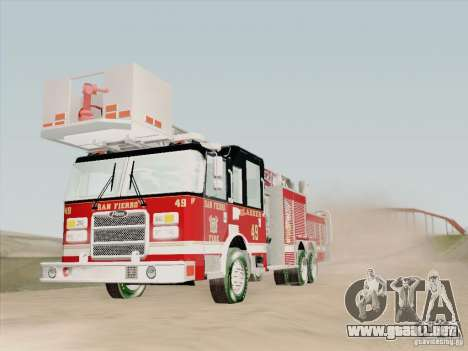 Pierce Rear Mount SFFD Ladder 49 para GTA San Andreas interior