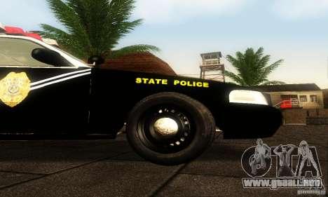 Ford Crown Victoria New Mexico Police para la visión correcta GTA San Andreas