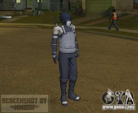 Piel Sasuke Anbu para GTA San Andreas segunda pantalla