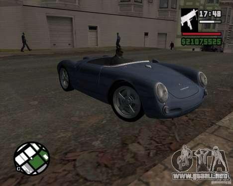 Porsche 550 para GTA San Andreas vista hacia atrás