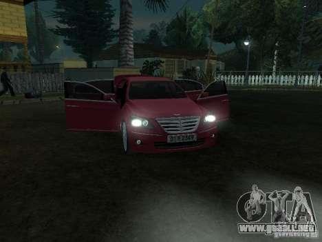 Hyundai Genesis para visión interna GTA San Andreas