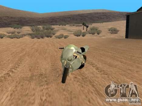 Turbine Superbike para GTA San Andreas vista hacia atrás