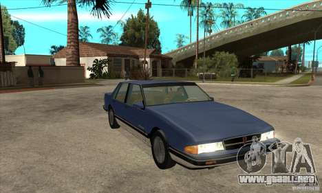 Pontiac Bonneville 1989 para GTA San Andreas vista hacia atrás