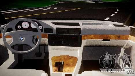 BMW 5 Series E34 540i 1994 v3.0 para GTA 4 vista hacia atrás
