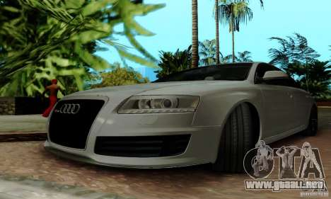 Audi RS6 2009 para vista inferior GTA San Andreas