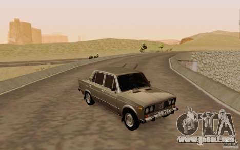 Drenaje 2106 VAZ para la vista superior GTA San Andreas