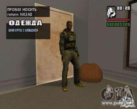 Ropa de un acosador para GTA San Andreas quinta pantalla