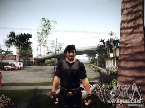 The Expendables para GTA San Andreas sucesivamente de pantalla