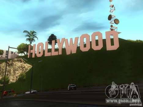 El Hollywood Sign para GTA San Andreas tercera pantalla
