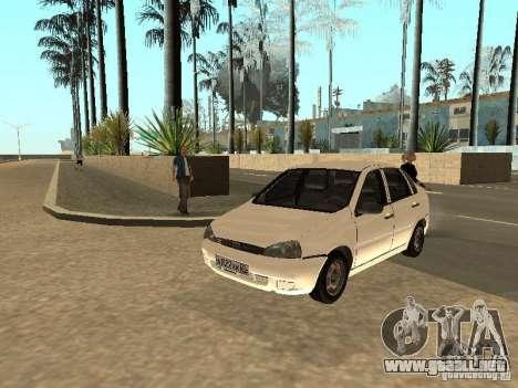 Lada Kalina para visión interna GTA San Andreas
