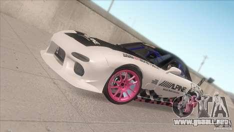Mazda RX-7 FD K.Terej para vista lateral GTA San Andreas