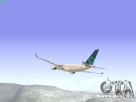 Airbus A330-200 Air Transat para la visión correcta GTA San Andreas