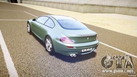 BMW M6 v1.0 para GTA 4 visión correcta