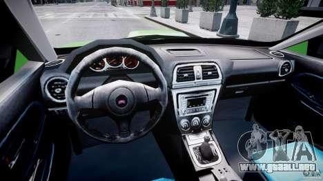 Subaru Impreza STI Wide Body para GTA 4 visión correcta