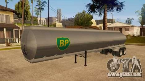 Tanque semi-remolque para la vista superior GTA San Andreas