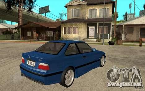 BMW M3 E36 1997 para la visión correcta GTA San Andreas