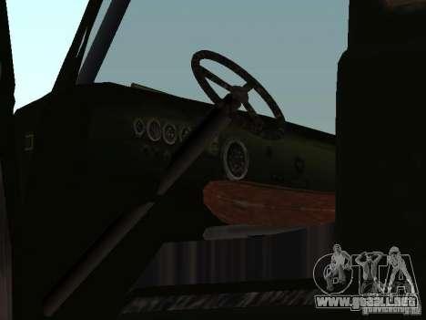 Uaz Monster para GTA San Andreas vista hacia atrás