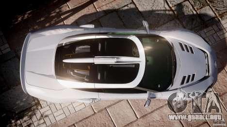 Spyker C8 Aileron v1.0 para GTA 4 vista hacia atrás