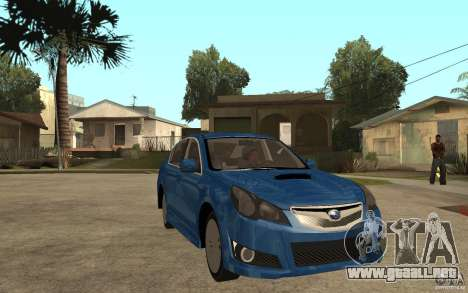 Subaru Legacy B4 2.5GT 2010 para GTA San Andreas vista hacia atrás