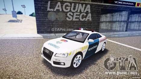 Audi S5 Hungarian Police Car white body para GTA 4