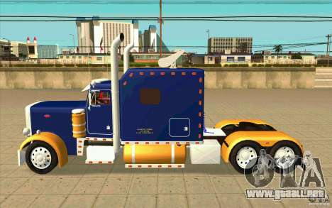 Peterbilt 359 Custom para GTA San Andreas left