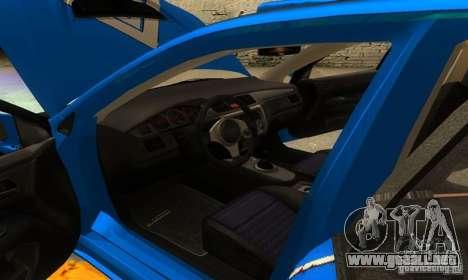Mitsubishi Lancer Evo 8 Tunable para vista inferior GTA San Andreas