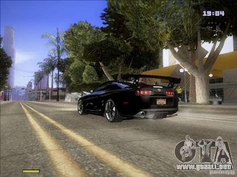 Toyota Supra v2 (MyGame Drift Team) para GTA San Andreas vista posterior izquierda