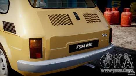 Fiat 126p 1976 para GTA 4 ruedas