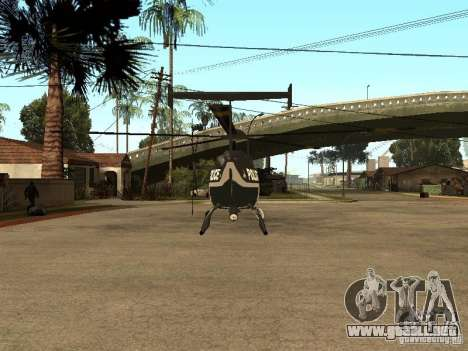 Police Maverick para GTA San Andreas vista posterior izquierda