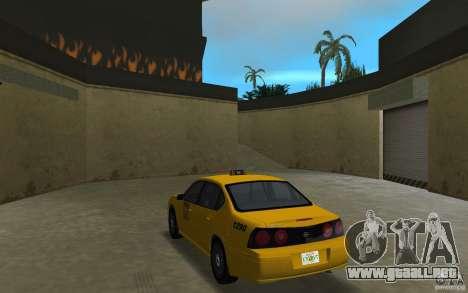Chevrolet Impala Taxi para GTA Vice City vista lateral izquierdo