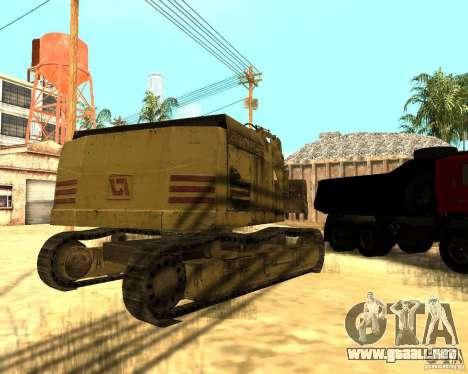 Excavadora para la visión correcta GTA San Andreas