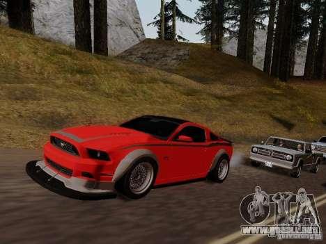 Ford Mustang RTR Spec 3 para la visión correcta GTA San Andreas
