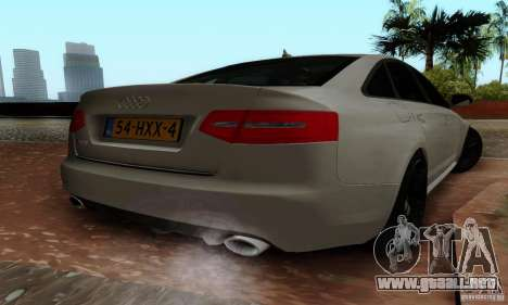 Audi RS6 2009 para GTA San Andreas left