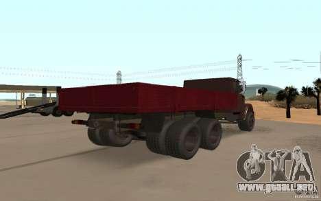 ZIL 6309 para GTA San Andreas vista posterior izquierda