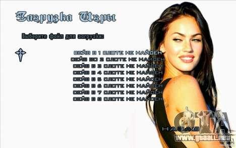 Las pantallas de arranque Megan Fox para GTA San Andreas quinta pantalla