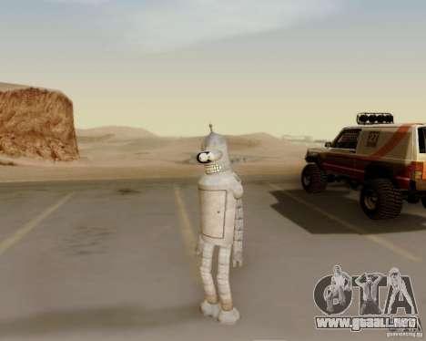 Futurama para GTA San Andreas sucesivamente de pantalla