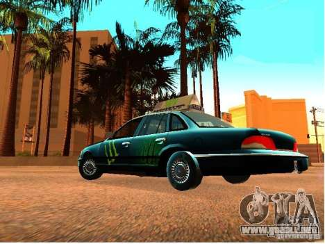 Ford Crown Victoria Taxi para GTA San Andreas vista hacia atrás