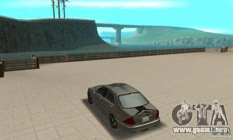 Mercedes Benz AMG S65 DUB para GTA San Andreas vista posterior izquierda