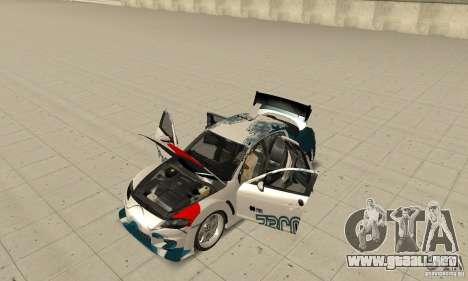 Mazda RX-8 NFS ProStreet para visión interna GTA San Andreas