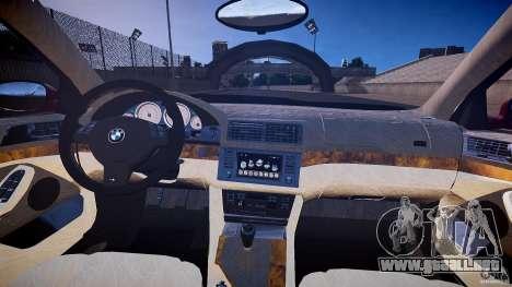 BMW M5 E39 Hamann [Beta] para GTA 4 vista hacia atrás