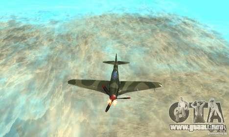 Yak-9 durante la II Guerra Mundial para la vista superior GTA San Andreas