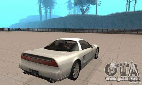 Acura NSX 1991 para GTA San Andreas left