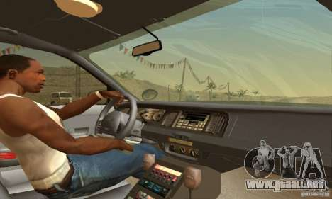 Ford Crown Victoria Pennsylvania Police para GTA San Andreas vista posterior izquierda